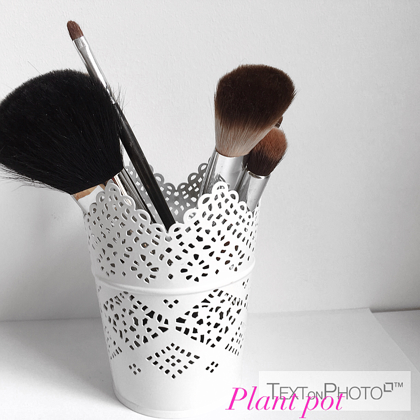PLANT POT TO STORE MAKEUP BRUSHES:My favourite makeup brush holder is the plant pot, especially this one I got from Ikea. It is well made,comes in so many ...